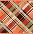 diagonal tartan seamless texture mainly in brown vector image vector image