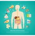 Digestive System Diseases vector image vector image