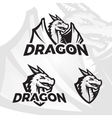 Dragons sport mascot College league insignia vector image vector image