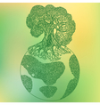 Earth tree ecology concept vector image