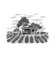 farm produce stand vector image