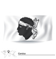 Flag of Corsica vector image vector image
