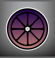 fruits lemon sign violet gradient icon vector image vector image