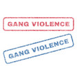 gang violence textile stamps vector image vector image