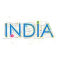 India background typography vector image