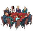 international negotiations diplomats vector image vector image