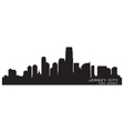 jersey city new skyline detailed silhouette vector image
