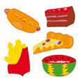Junk Food vector image vector image