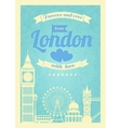 Love London vintage retro poster vector image vector image