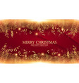 merry christmas elegant design template gold fir vector image vector image