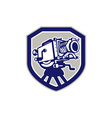 Movie Film Camera Vintage Shield vector image vector image