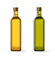 olive and sunflower oil bottles realistic set vector image vector image
