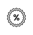 percent - line design single isolated icon vector image