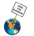 planet earth open for business vector image vector image