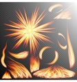 Realistic fire flames set EPS 10 vector image vector image