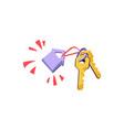 rental real estate concept keys vector image vector image