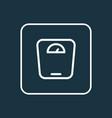 scale icon line symbol premium quality isolated vector image