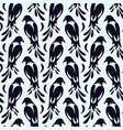 seamless pattern of birds similar to magpie vector image vector image