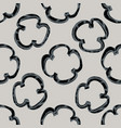 seamless pattern with hand drawn stylized grilled vector image vector image