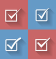 Set of check mark check box icons vector image vector image