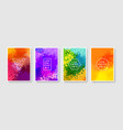 set of colorful abstract background modern style vector image vector image