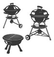 set of the grills isolated on white background vector image vector image
