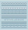 set paper volumetric lace borders collection vector image vector image