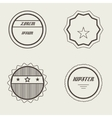 set retro stamps and badges vintage vector image vector image