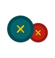 Sewing buttons flat icon vector image