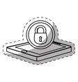 smartphone lock server banner icon vector image