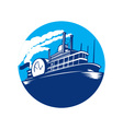 Steamboat Ferry Passenger Ship Retro vector image vector image
