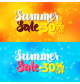 Summer Sale Web Banners over Abstract Blurred vector image