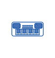 synthesizer line icon concept synthesizer flat vector image vector image