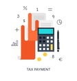 Tax Payment vector image vector image