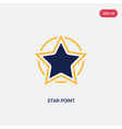 two color star point icon from ultimate vector image