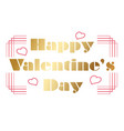 valentines day emblem or icon on white background vector image vector image
