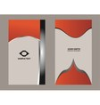 vertical business card vector image vector image