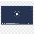 Video Player mockup vector image vector image
