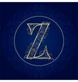 Vintage floral alphabet letter Z vector image