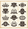 Vintage premium quality labels set vector image