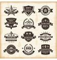 Vintage premium quality labels set vector image vector image