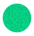 Wallpaper DIY shop logotype design templates vector image vector image