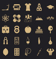 well person icons set simple style vector image vector image