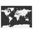 world map on dark background high detail blank vector image