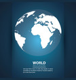 world modern background vector image vector image