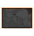 cartoon school board icon isolated vector image