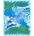 Decorative with peacocks vector image