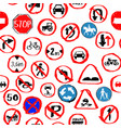 traffic sign seamless pattern design vector image