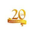 20 year ribbon anniversary vector image