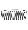 A comb vector image vector image